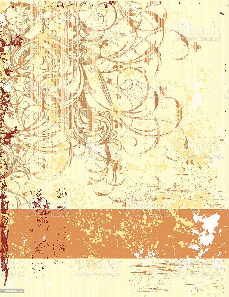 Distressed Orange Banner royalty-free stock vector art