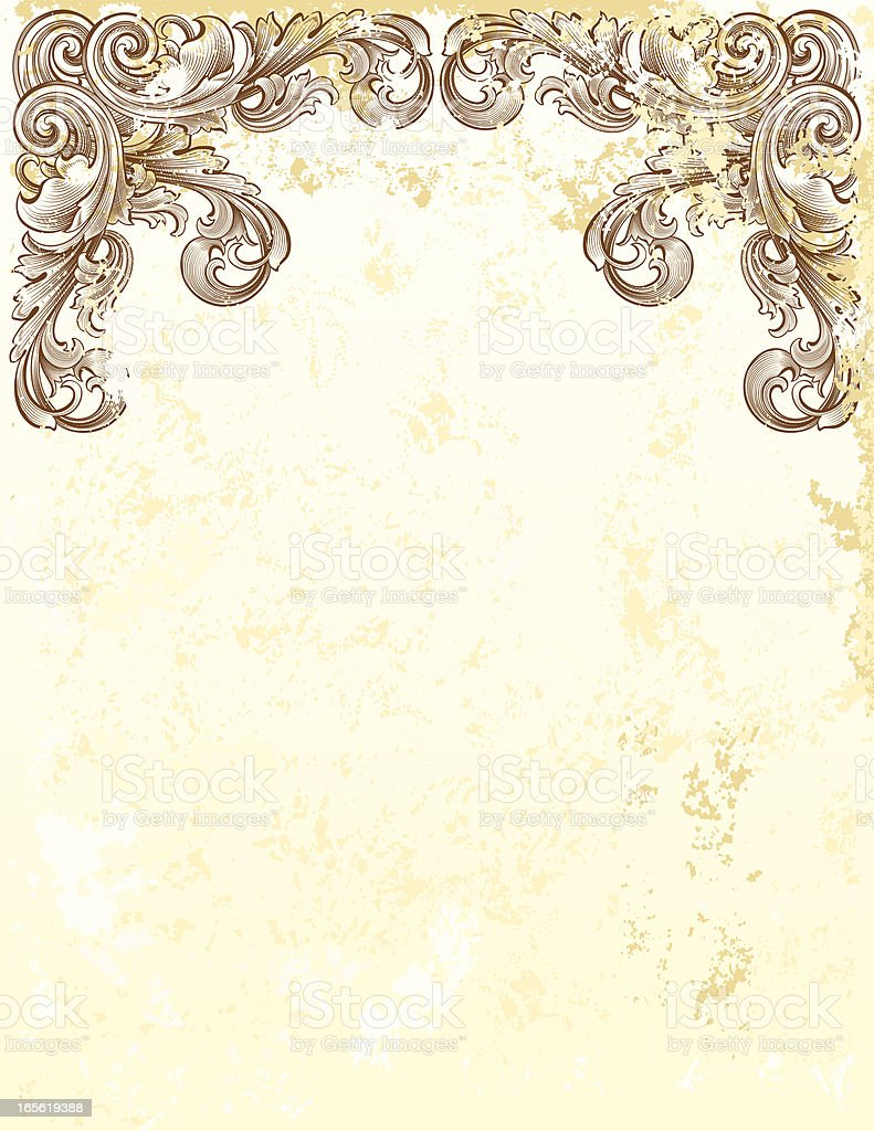 Distressed Page Header royalty-free stock vector art
