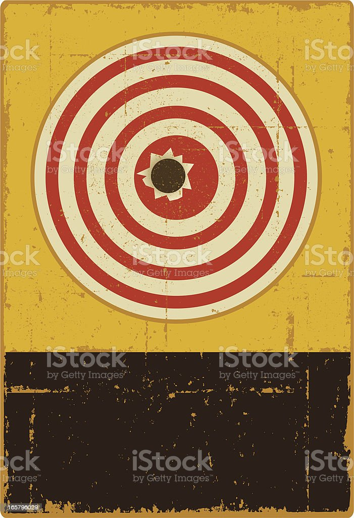 Distressed Target Sign - Copy Space royalty-free stock vector art