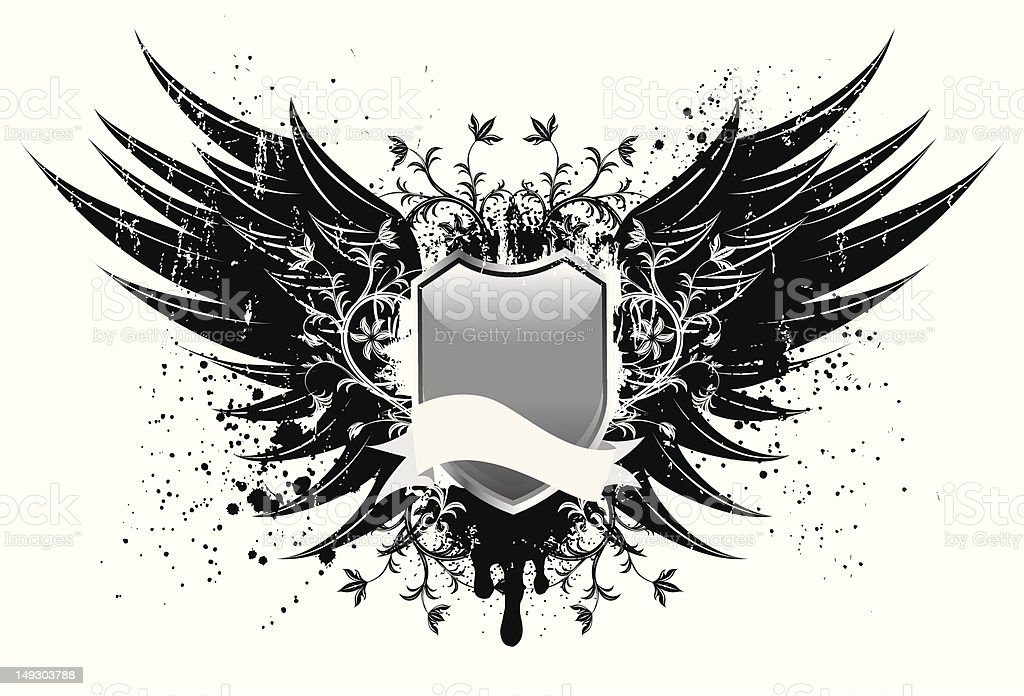 Distressed wings design royalty-free stock vector art