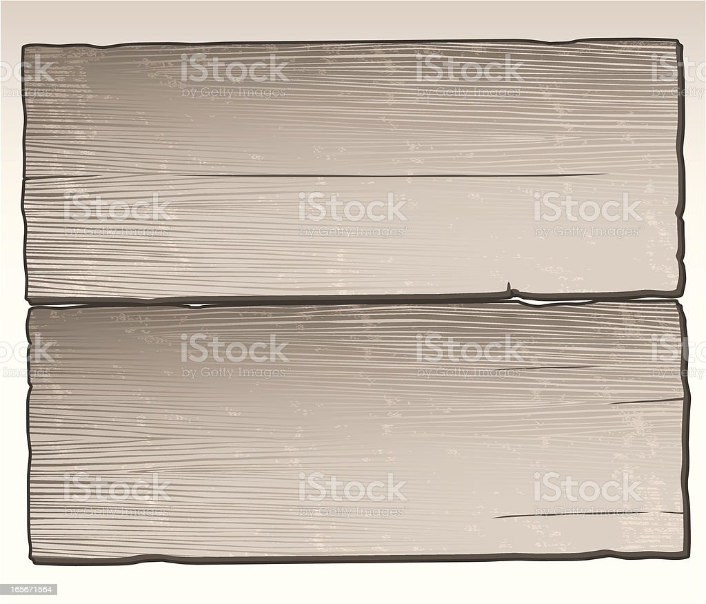 Distressed Wood Planks royalty-free stock vector art