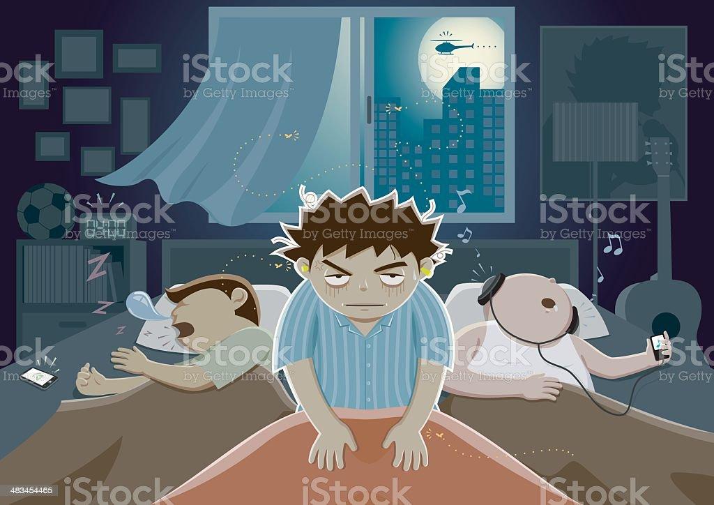 Disturb The Sleep vector art illustration