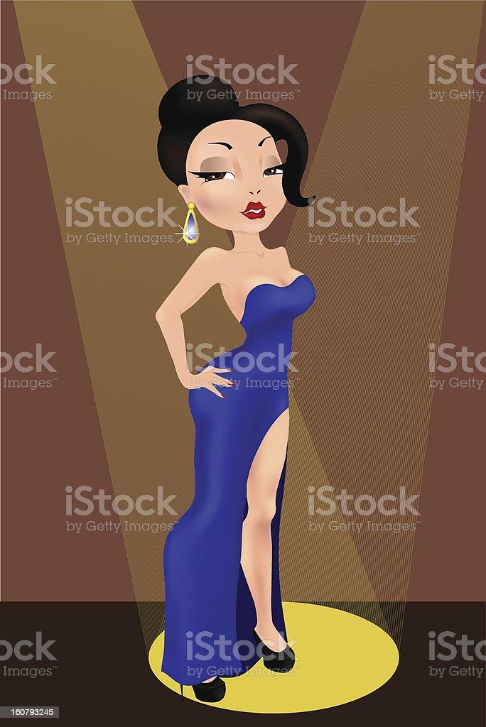 Diva royalty-free stock vector art