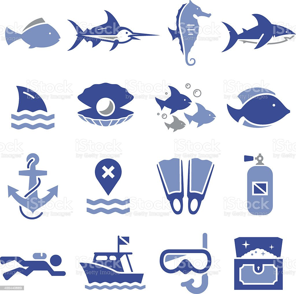 Dive Icons - Pro Series vector art illustration