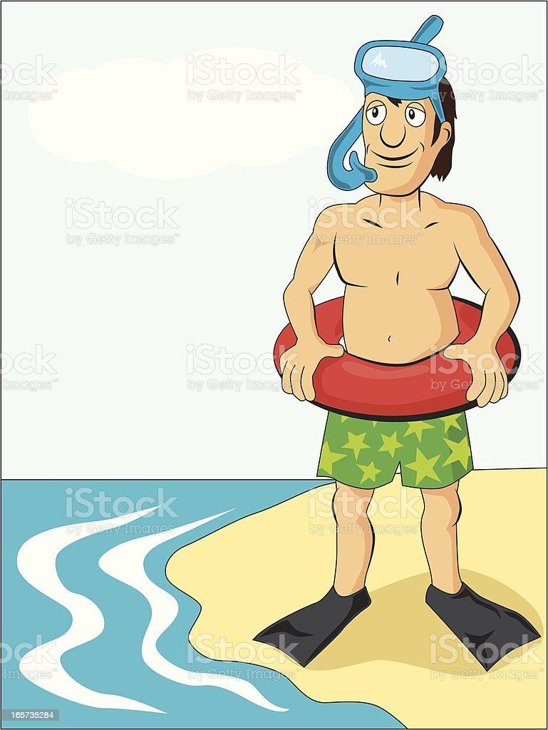 diver beach cartoon royalty-free stock vector art