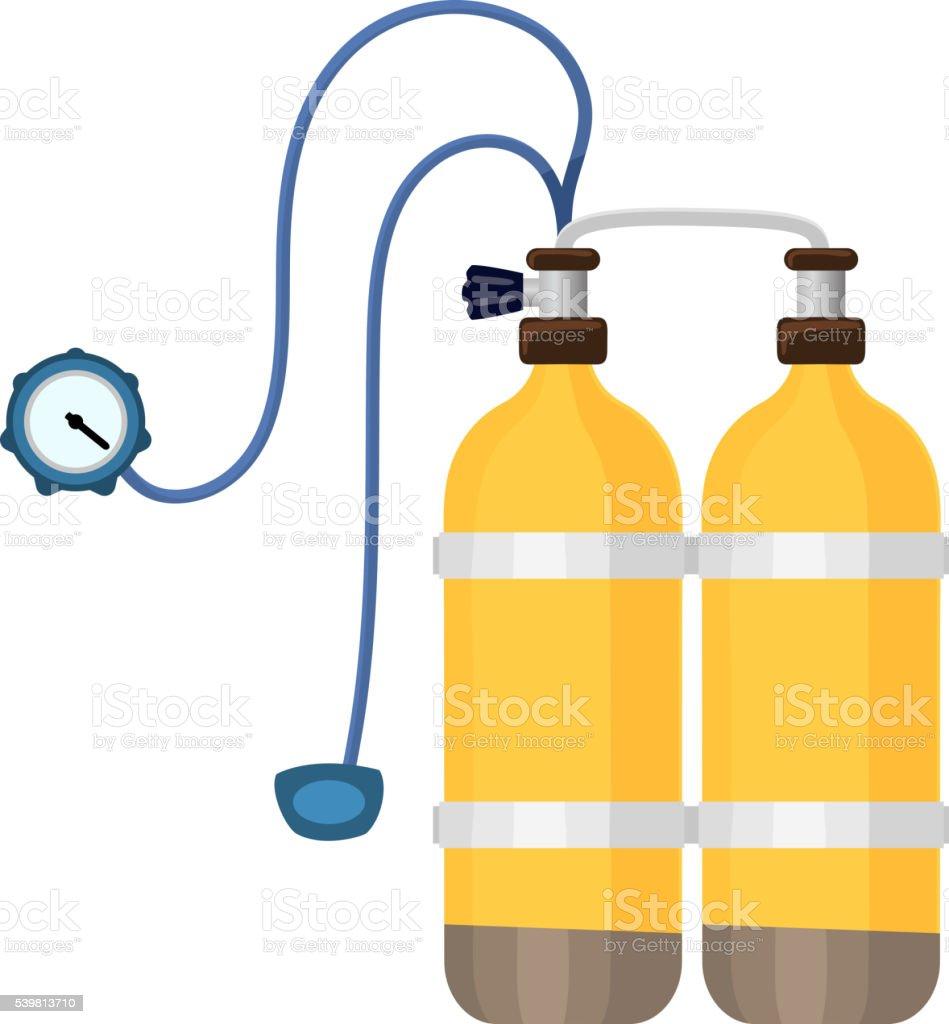 Diver cylinders vector illustration. vector art illustration