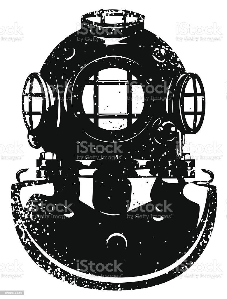 Diver helmet royalty-free stock vector art