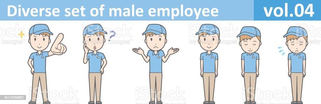 Diverse set of male employee, EPS10 vol.04 vector art illustration