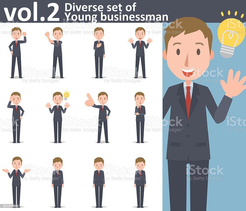Diverse set of young businessman  , EPS10 vector format vol.2 vector art illustration