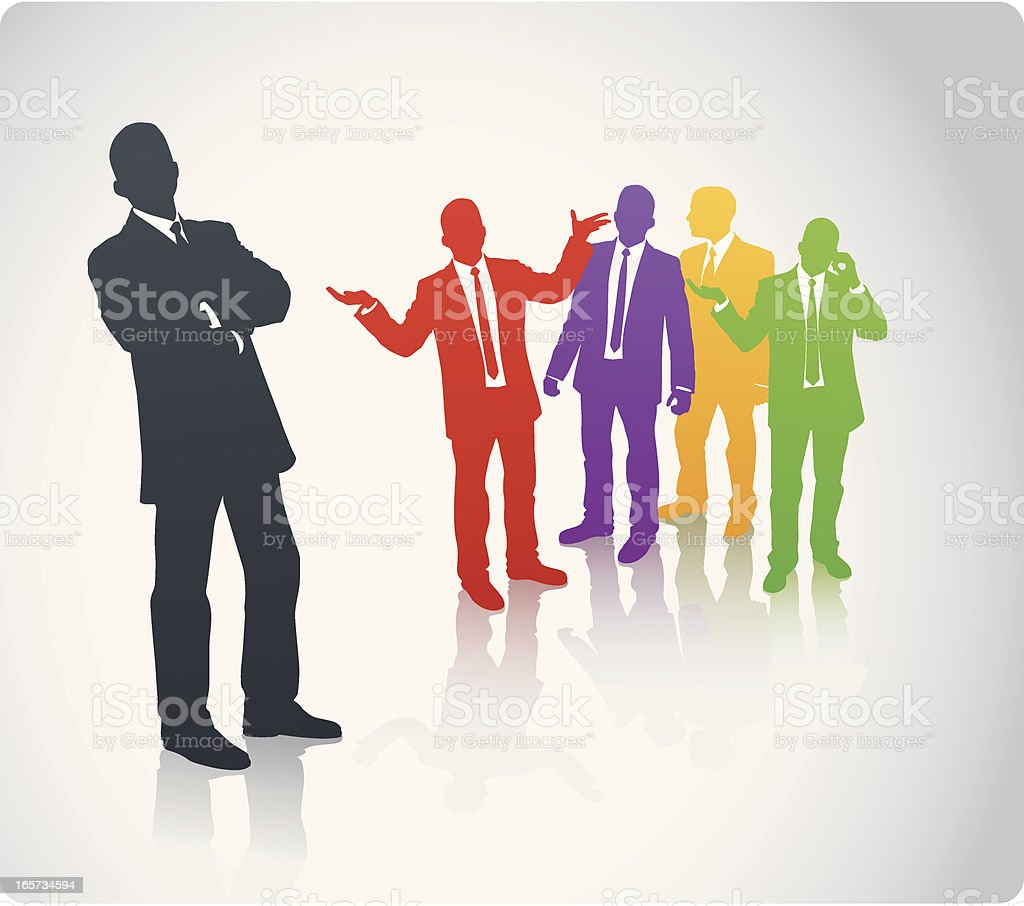 Diversity Business Team royalty-free stock vector art