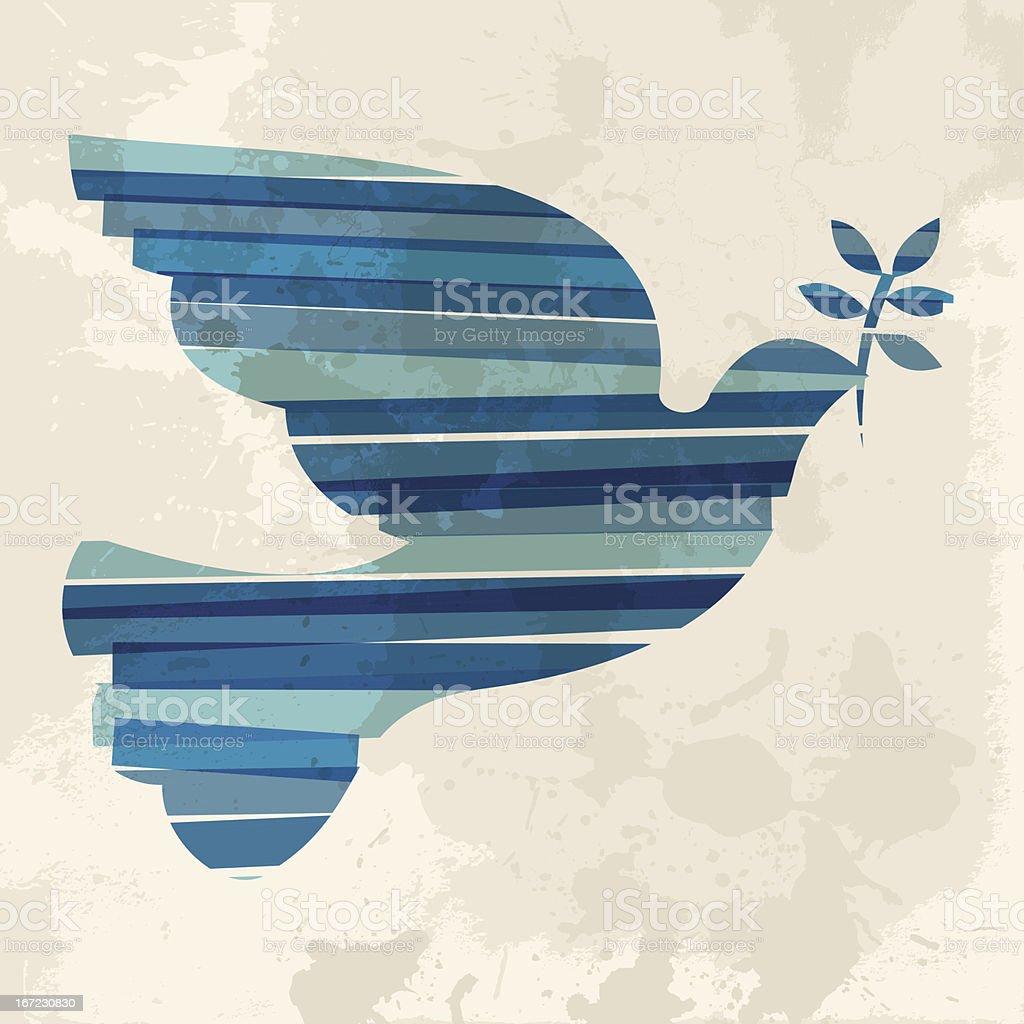 Diversity dove of peace vector art illustration