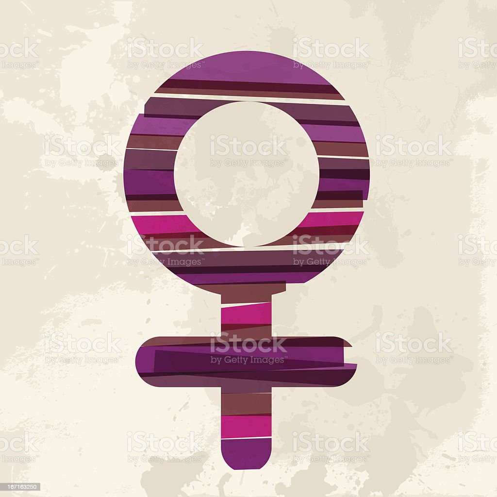 Diversity female sign royalty-free stock vector art