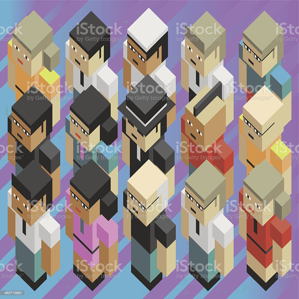 Diversity people isometric royalty-free stock vector art