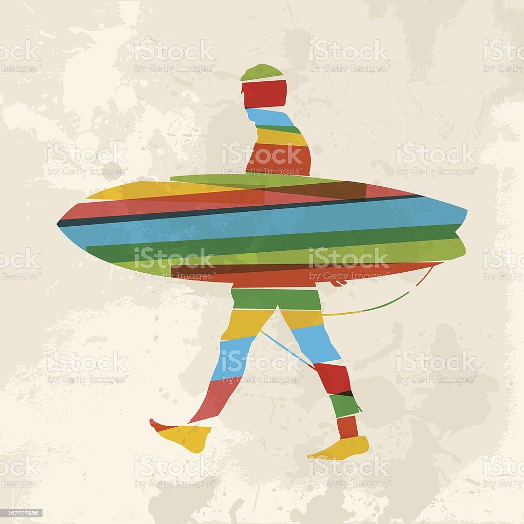 Diversity surf royalty-free stock vector art