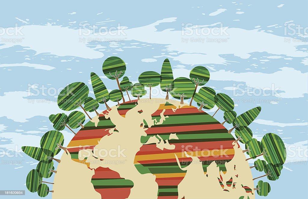 Diversity tree Earth royalty-free stock vector art