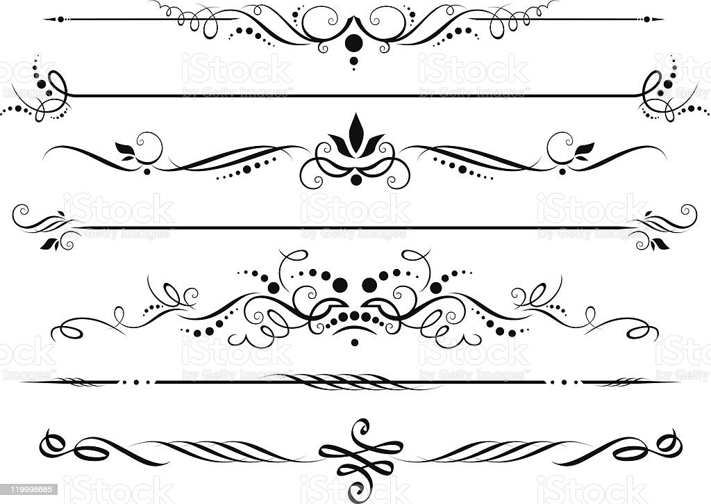 Dividers and borders royalty-free stock vector art
