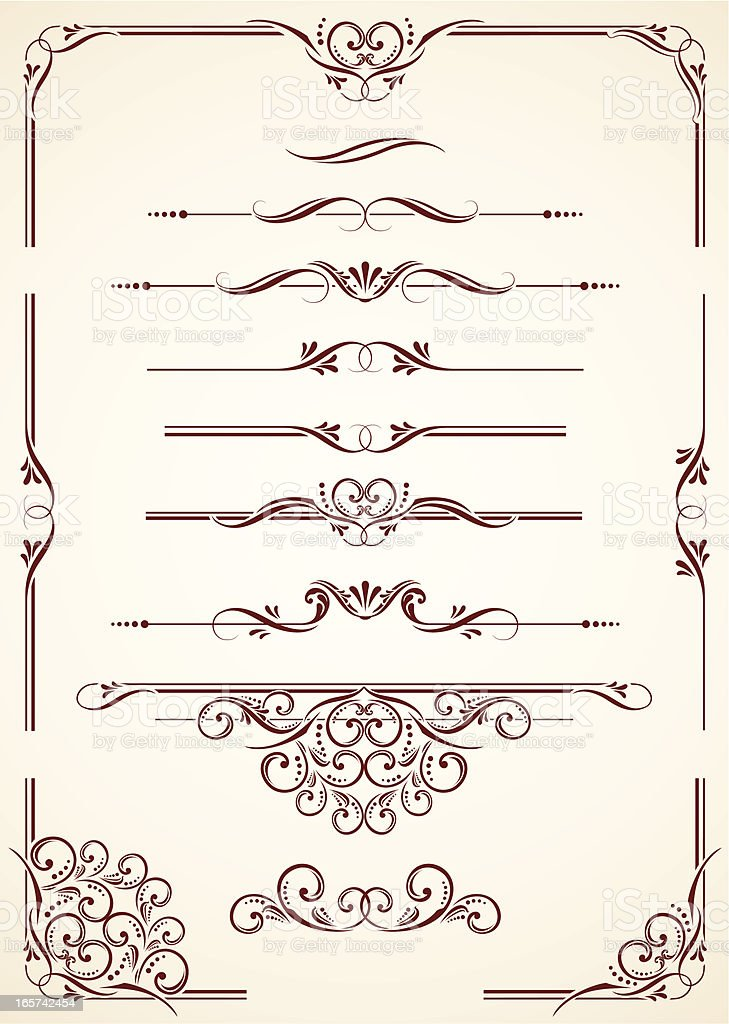 Dividers & Corners vector art illustration