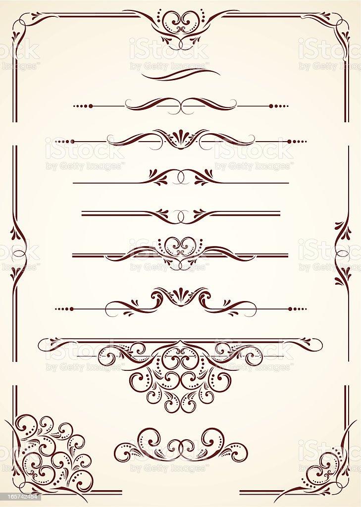 Dividers & Corners vector art illustration