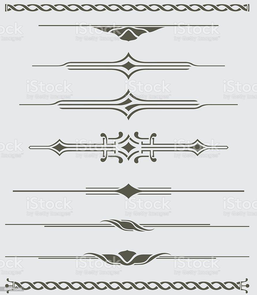 dividers decorative illustration stock vector art