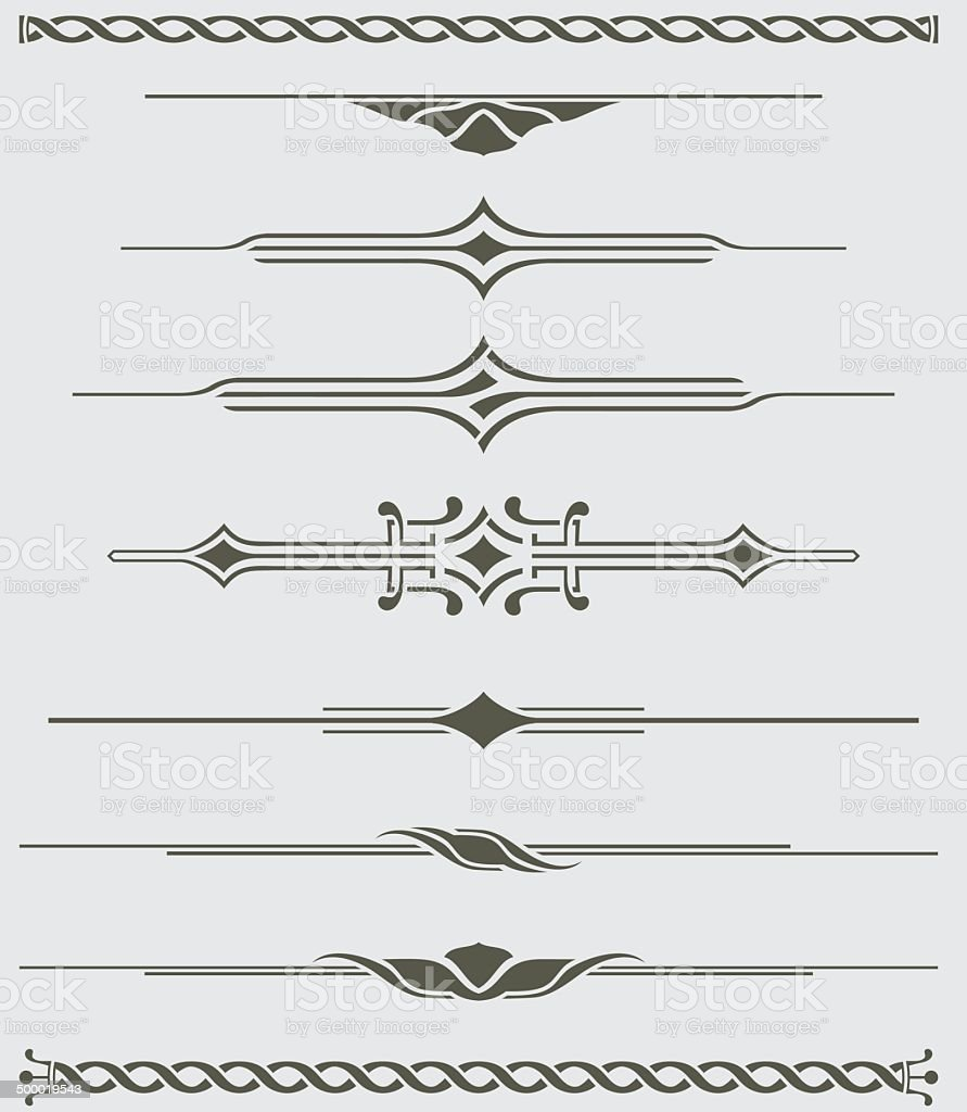 Dividers - Decorative Illustration vector art illustration