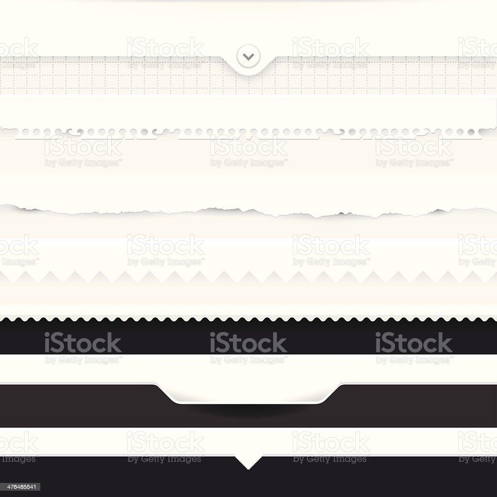 Dividers Set vector art illustration