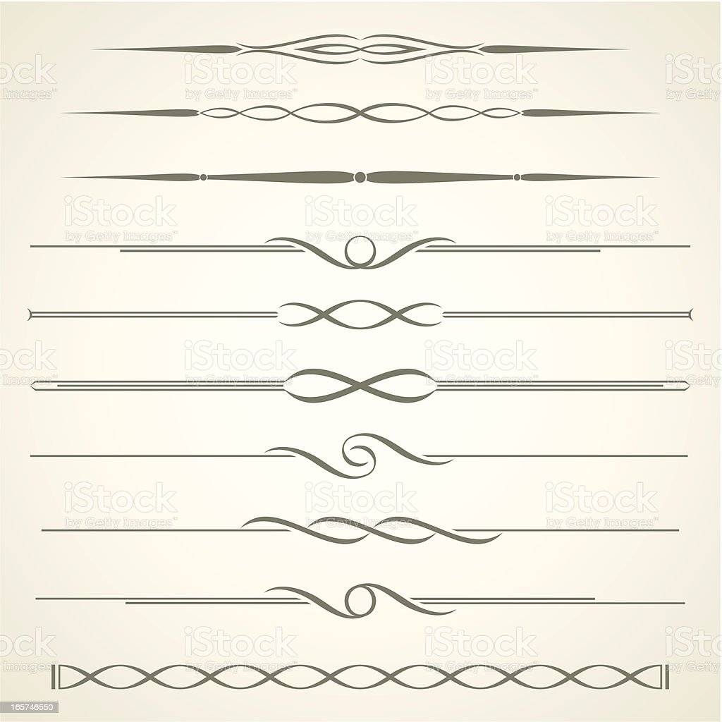 Dividers vector art illustration