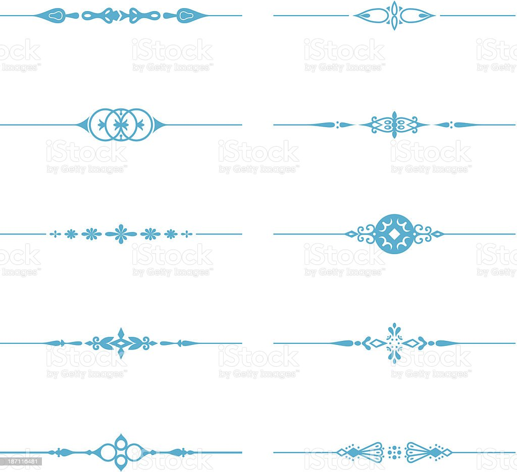 Dividing Lines royalty-free stock vector art