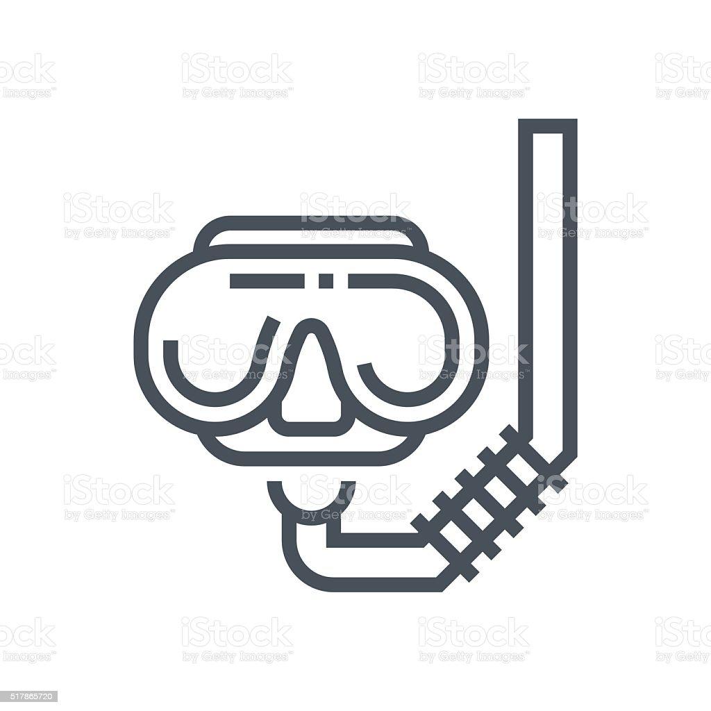 Diving google icon vector art illustration