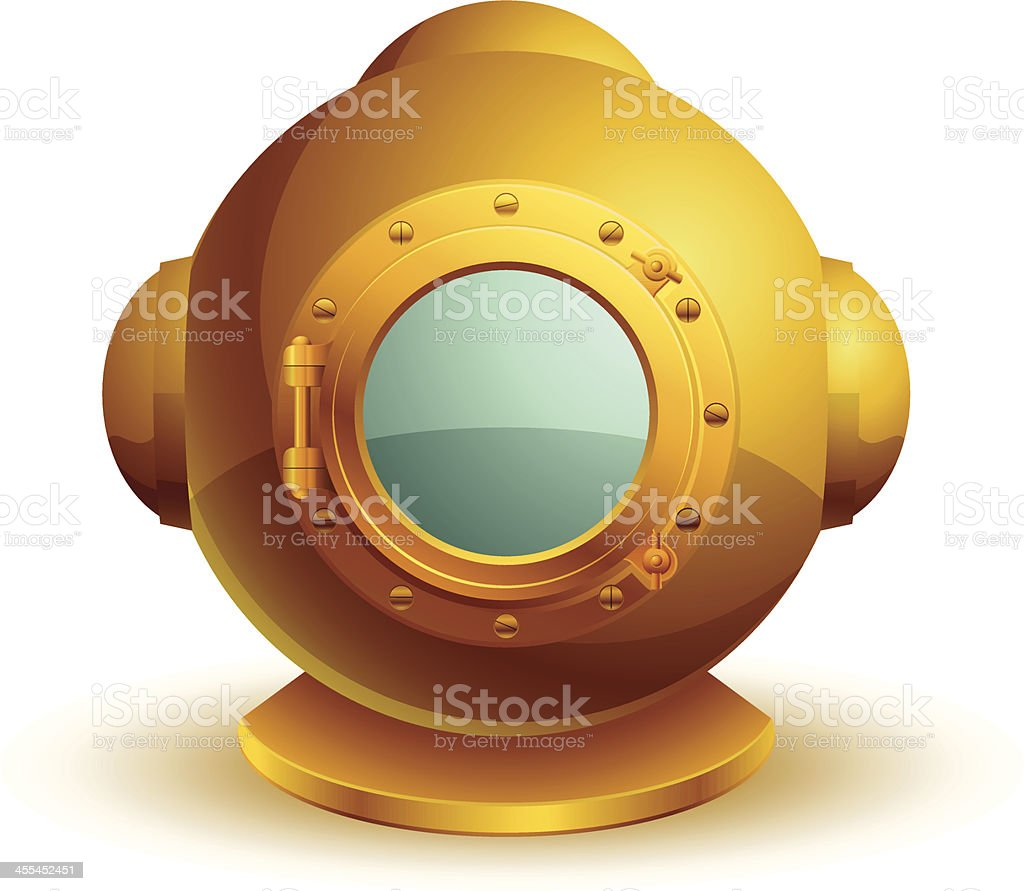 diving helmet royalty-free stock vector art