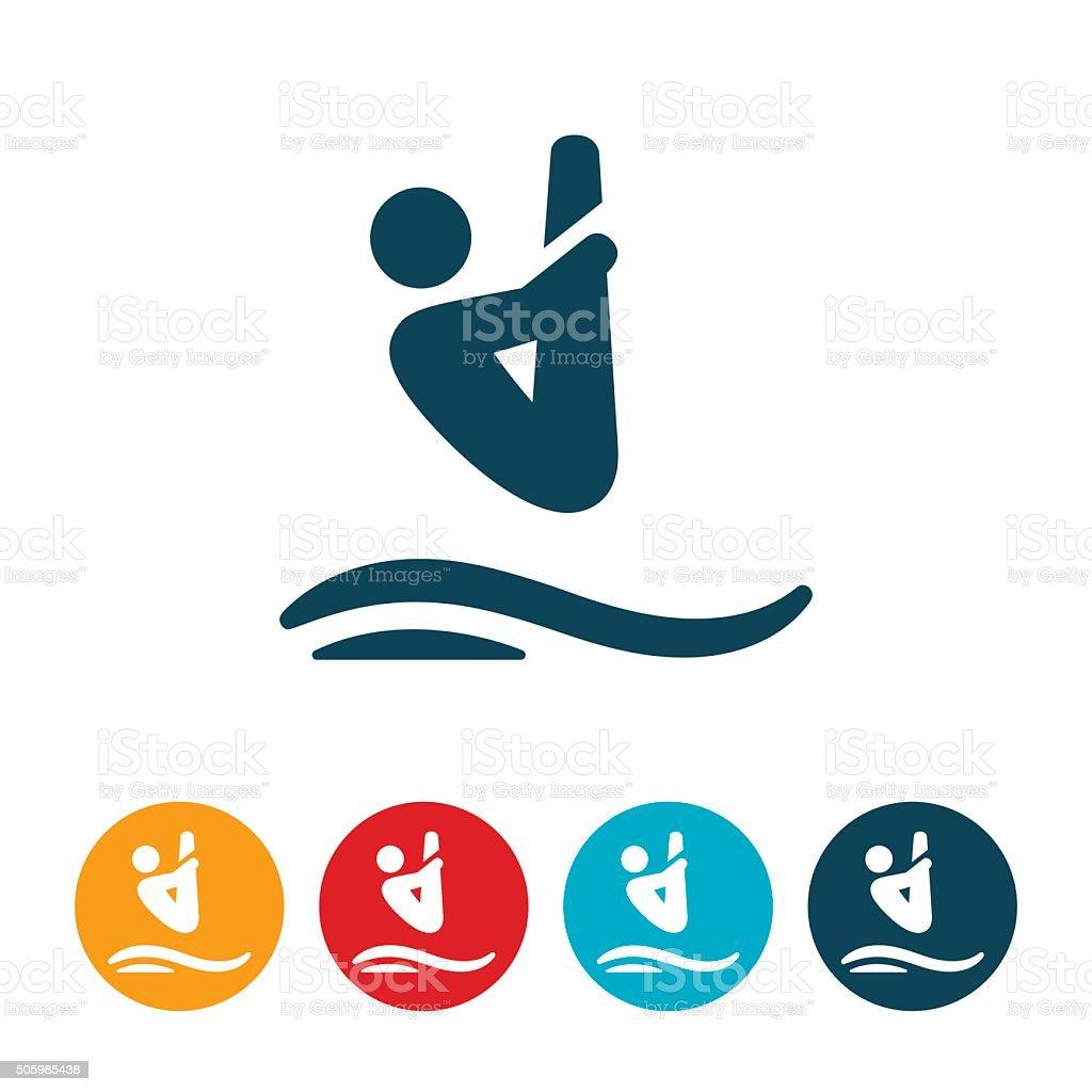 Diving Icon vector art illustration