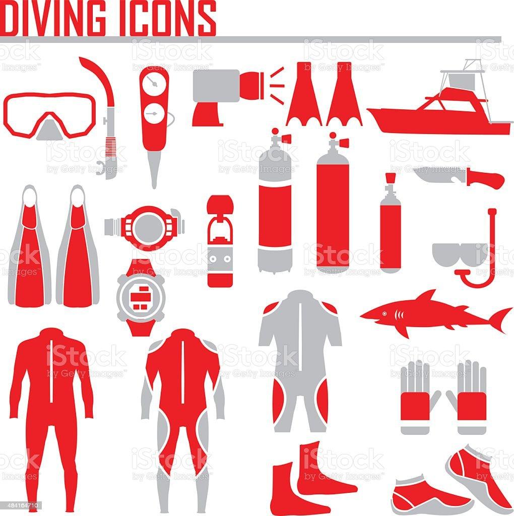 diving icon vector illustration. vector art illustration