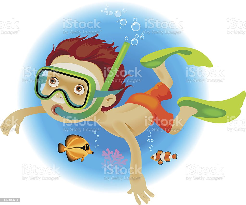 Diving royalty-free stock vector art
