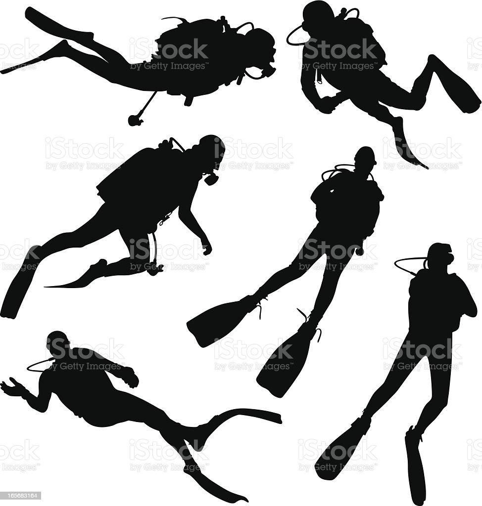 Diving vector art illustration