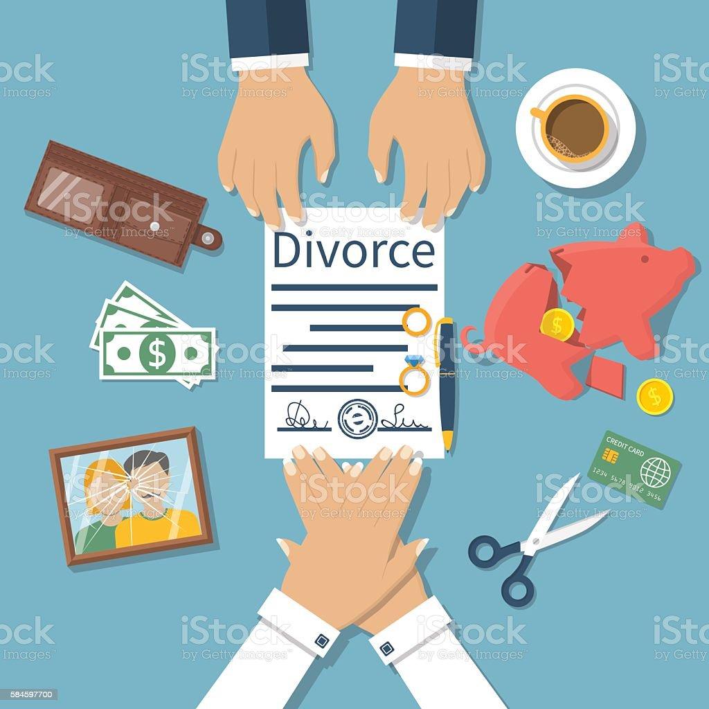 Divorce concept vector vector art illustration