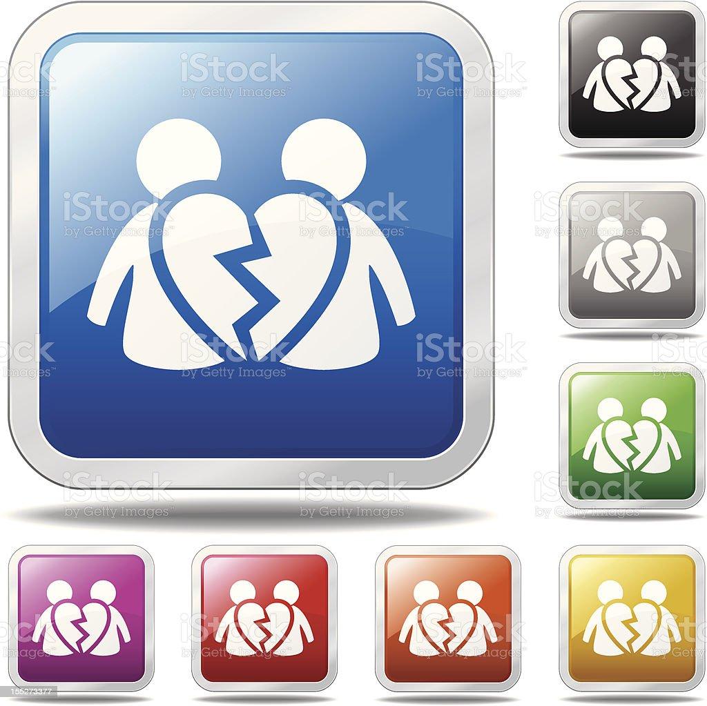 Divorce Icon royalty-free stock vector art