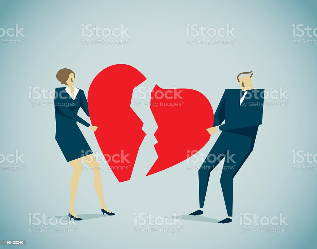 Divorce, Separation vector art illustration