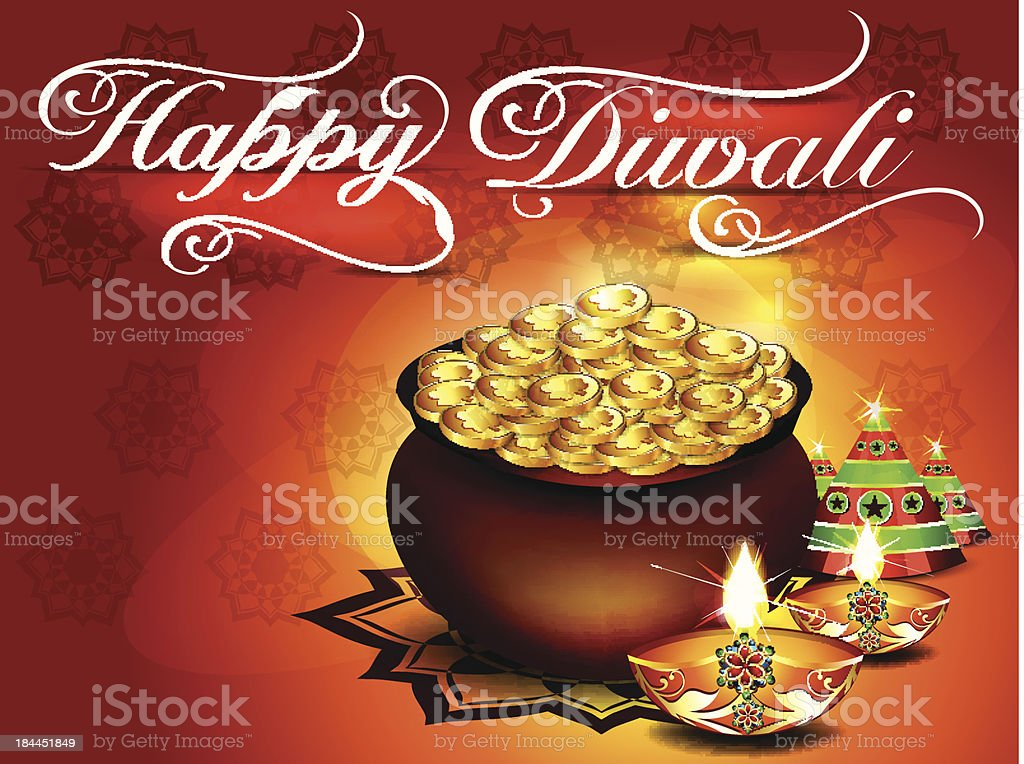 diwali background with Floral royalty-free stock vector art