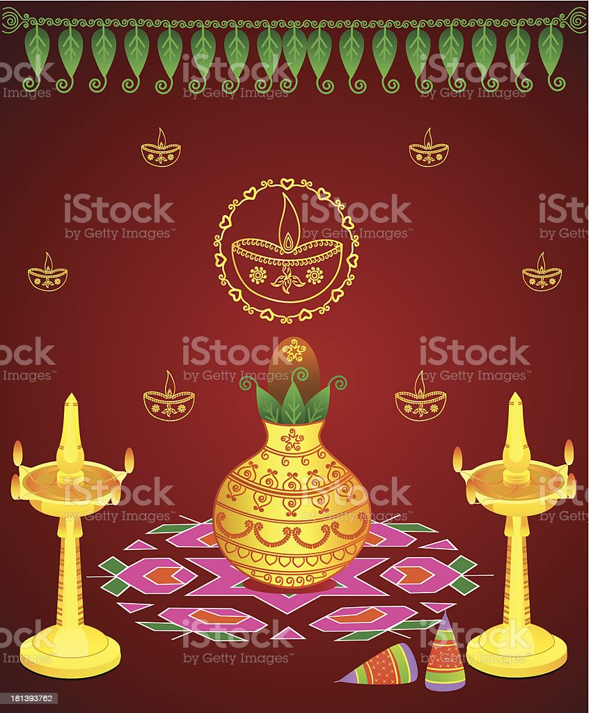 Diwali Celebration vector art illustration