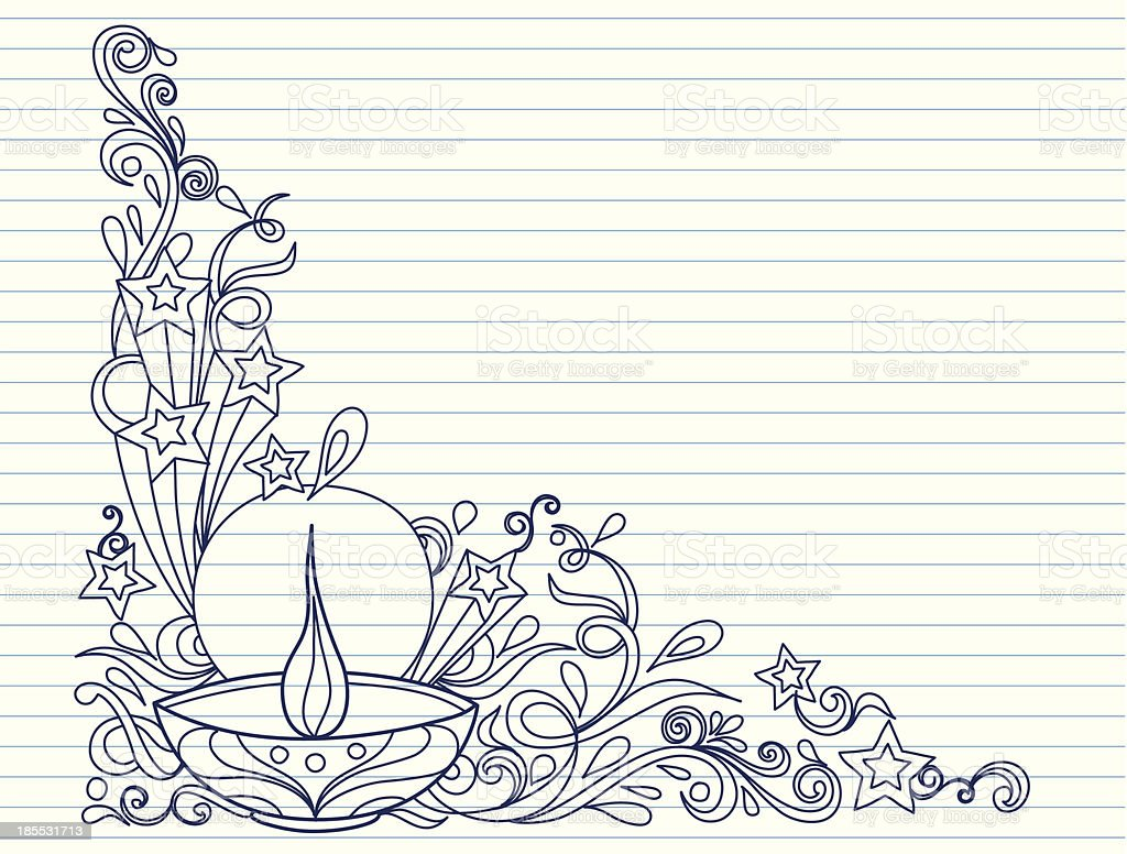 Diwali Celebration vector art illustration