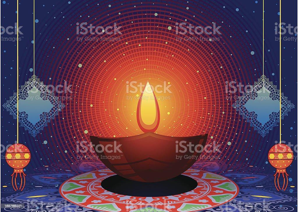 Diwali Greeting royalty-free stock vector art