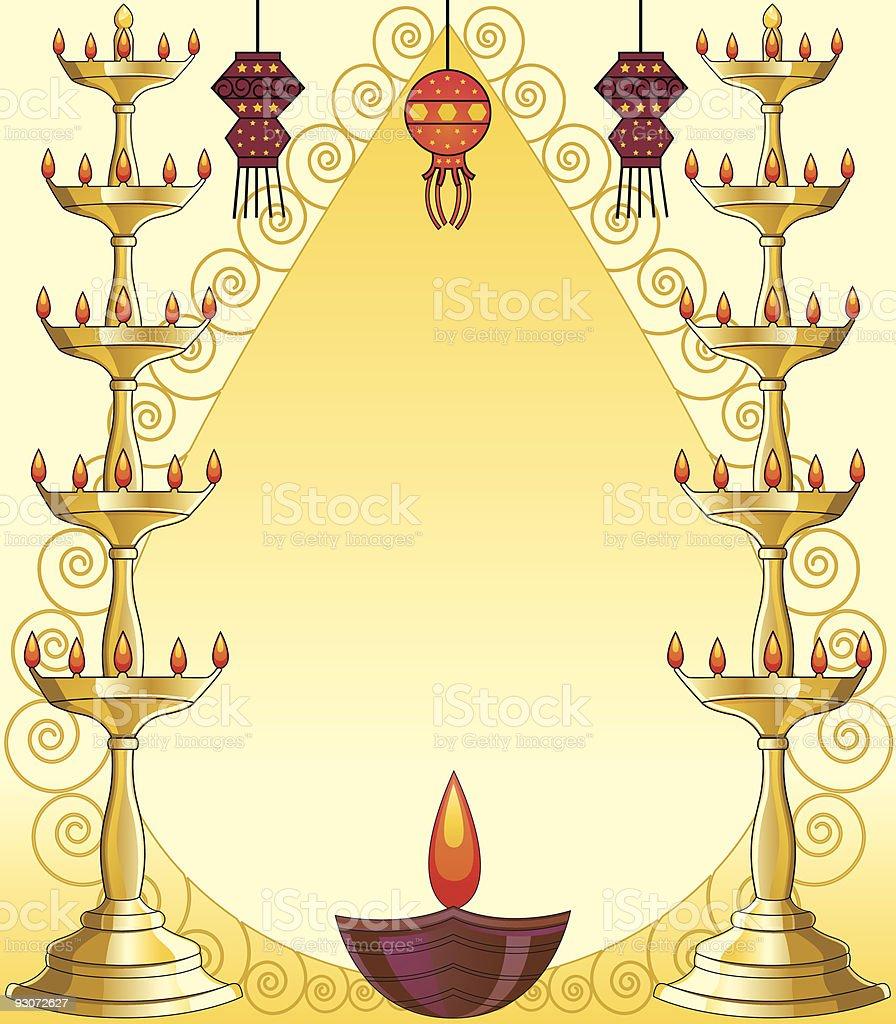 Diwali Greetings vector art illustration