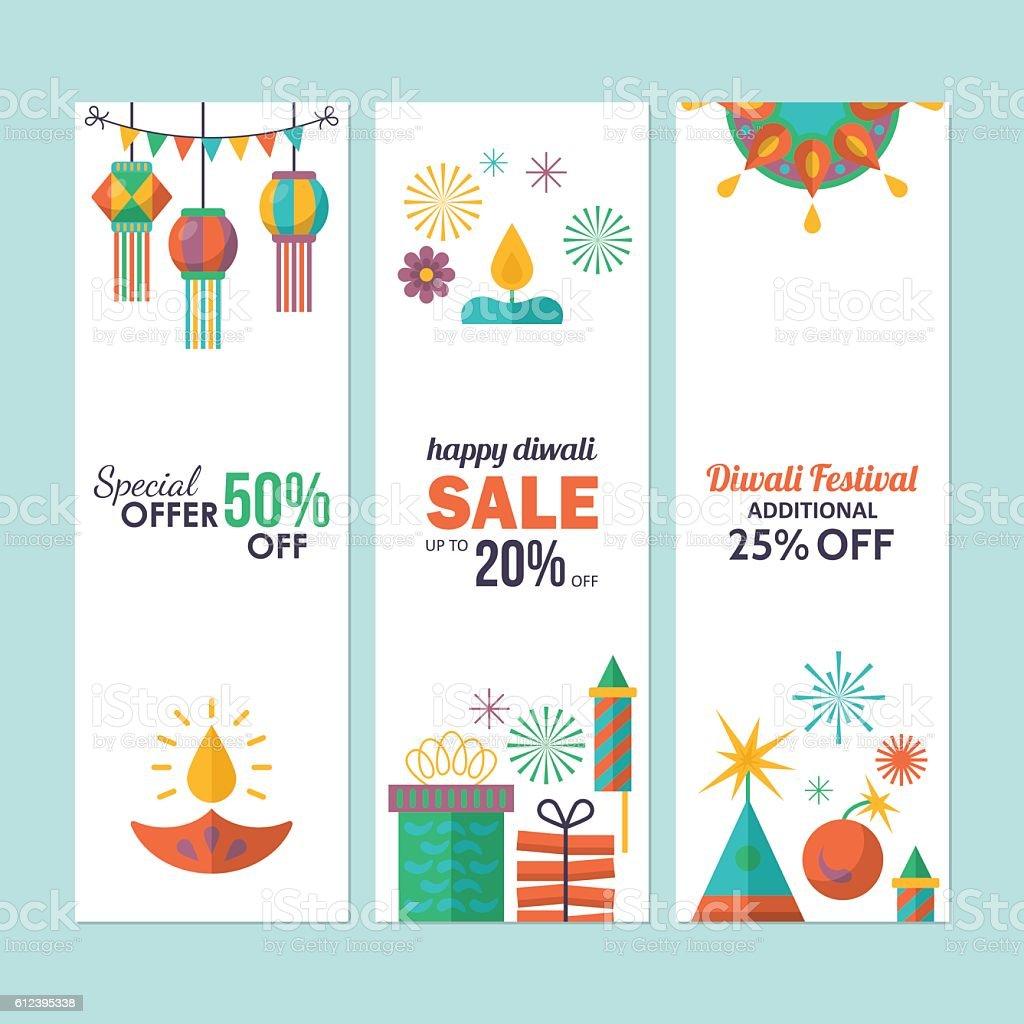 diwali hindu festival  banner design for social media stock