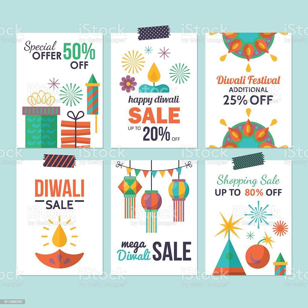 Diwali Hindu Festival Sale Flyer Design For Social Media stock – Sale Flyer Design