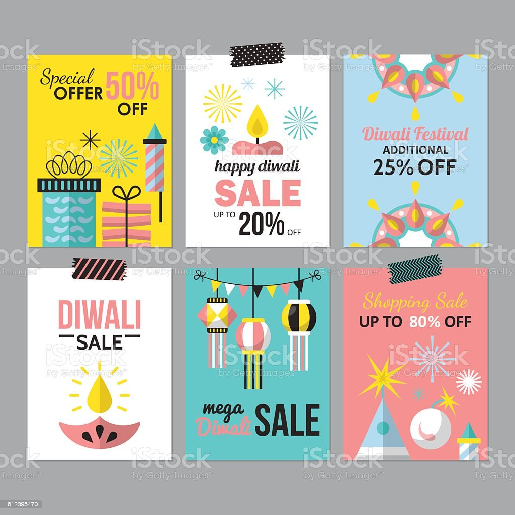 Diwali Hindu Festival Sale Flyer Design For Social Media stock – Sale Flyer Design