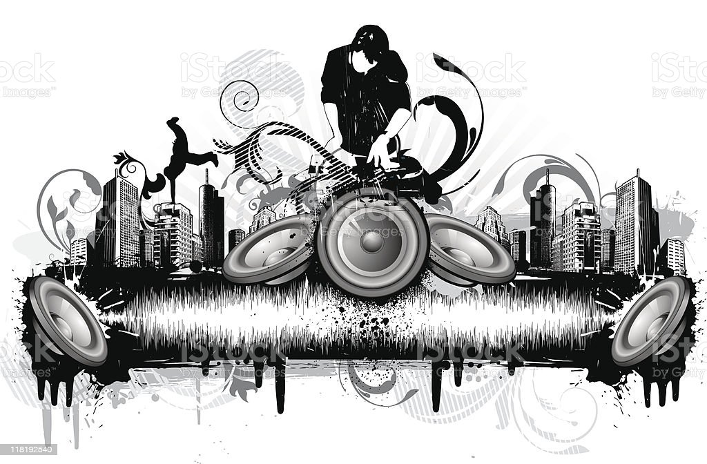Dj City royalty-free stock vector art