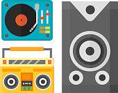Dj music equipment icon