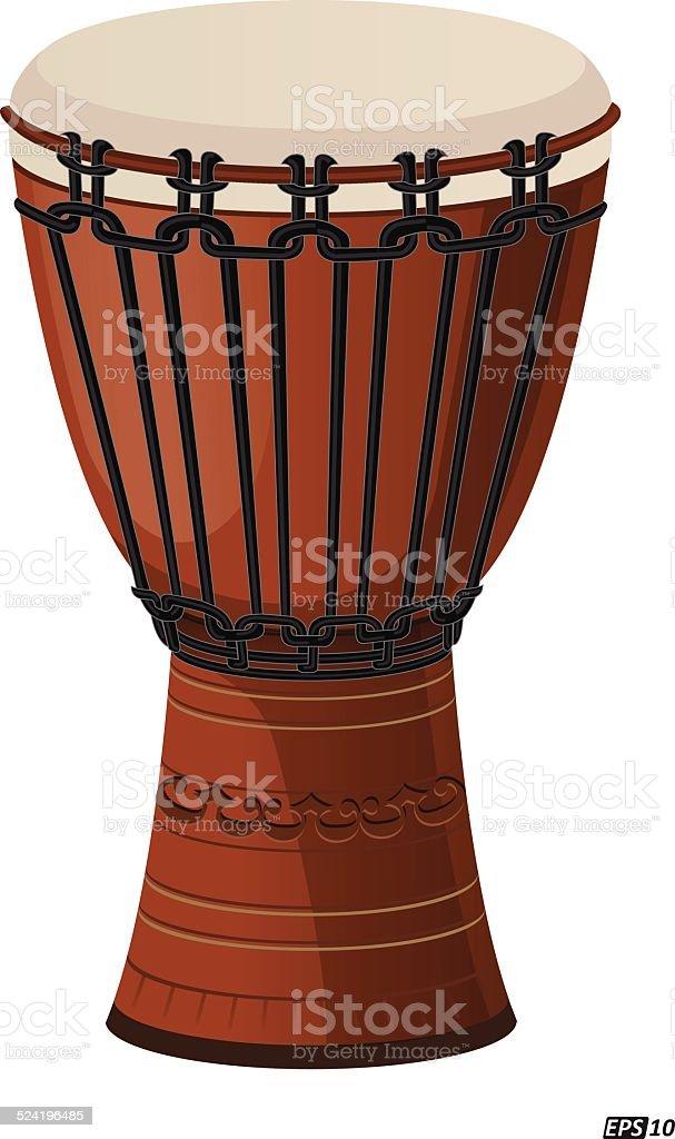 Djembe drum isolated vector art illustration