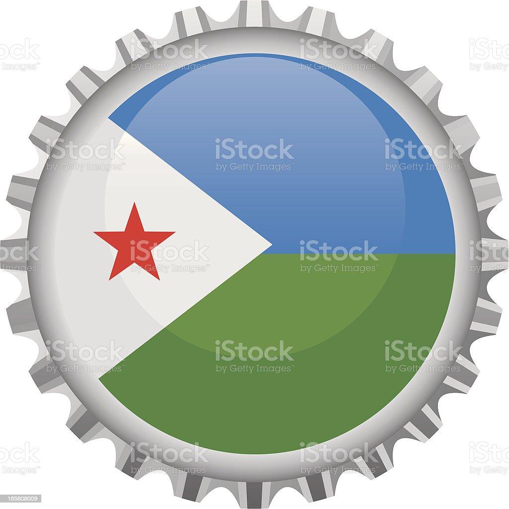 Djibouti bottle top vector art illustration