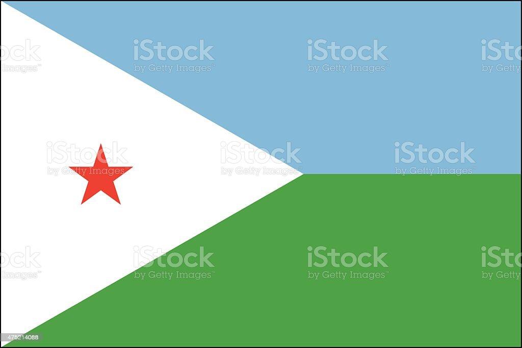 Djibouti Flag vector art illustration