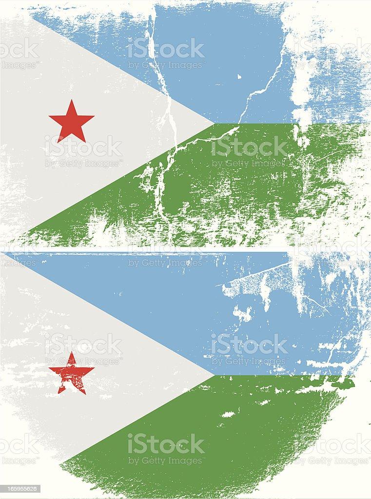 Djibouti Grunge flag royalty-free stock vector art